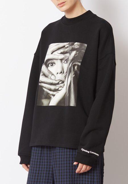 Unisex Opening Ceremony Shinoyama Cozy Sweatshirt - Black