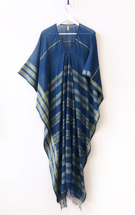 Two Caftan - Blue Gold Stripe
