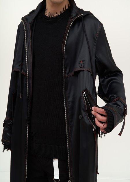 Helmut Lang Long Windbreaker - black