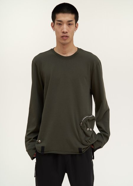 Helmut Lang Distressed Utility Crewneck - green