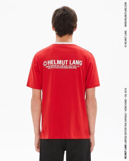 Helmut Lang Taxi T-Shirt (Hong Kong) - red/silver