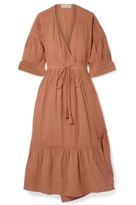 Apiece Apart Anichka Wrap Dress - Onion Skin