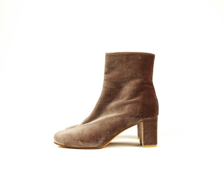 Maryam Nassir Zadeh Agnes Boot - Brown Velvet