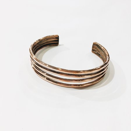 Ben Rios Stacked Copper Cuff Bracelet
