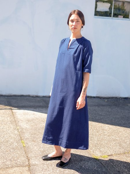 Sunja Link Yoke Dress - Blue