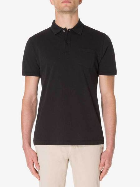 Sunspel Riviera Polo - Black