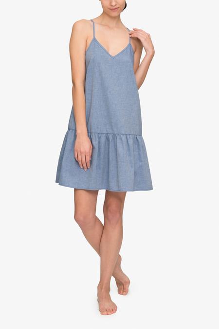 The Sleep Shirt Dropped Waist Nightie - Navy Twill