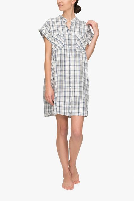 The Sleep Shirt Two Pocket Sleep Shirt - Overcast Plaid