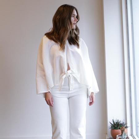 Miranda Bennett Kahlo Top - White Linen