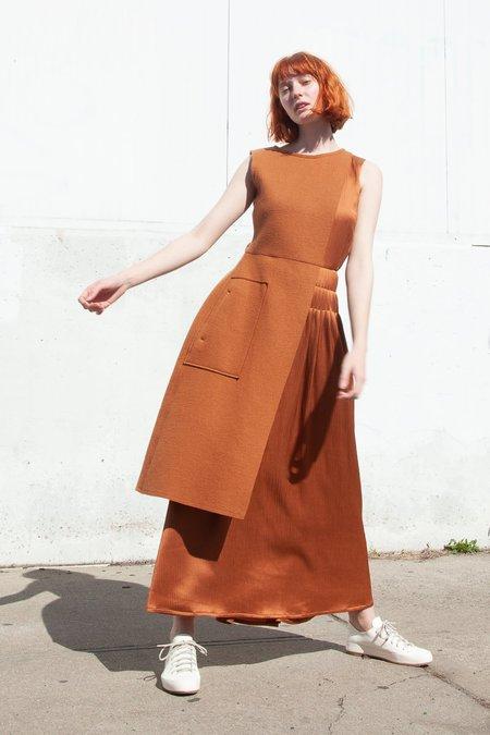 Nehera Dala Wool Jersey Dress - Rust