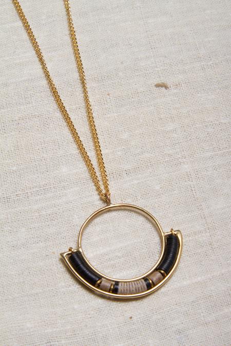 Alchemilla Portal Hoop Necklace - Charcoal