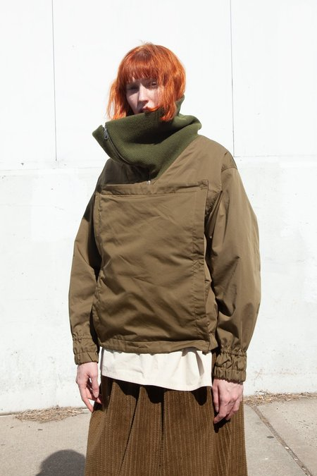 Nehera Jobys Trench Cotton Blend Jacket - Dark Green