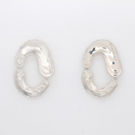 Leigh Miller Swish Hoops - Sterling Silver