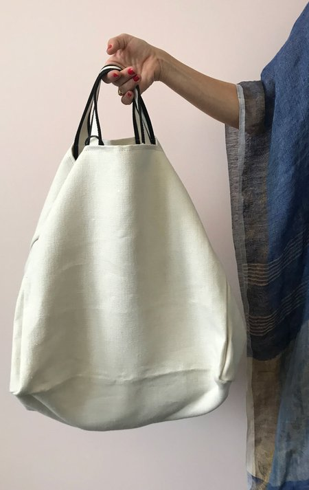 Tampico Large Tote Bag - White