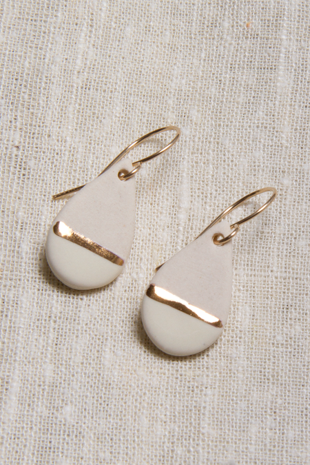 Zoe Comings Teardrop Earrings - White