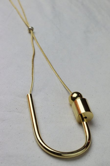 Maslo Jewelry Chock a Block Necklace - Gold