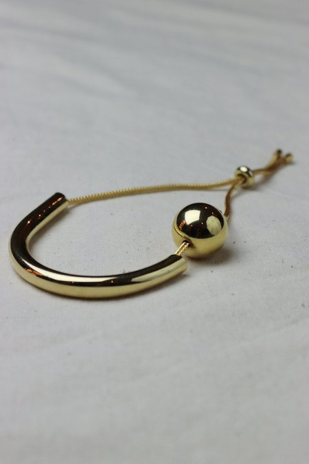 Maslo Jewelry Tipping Point Bracelet - Gold