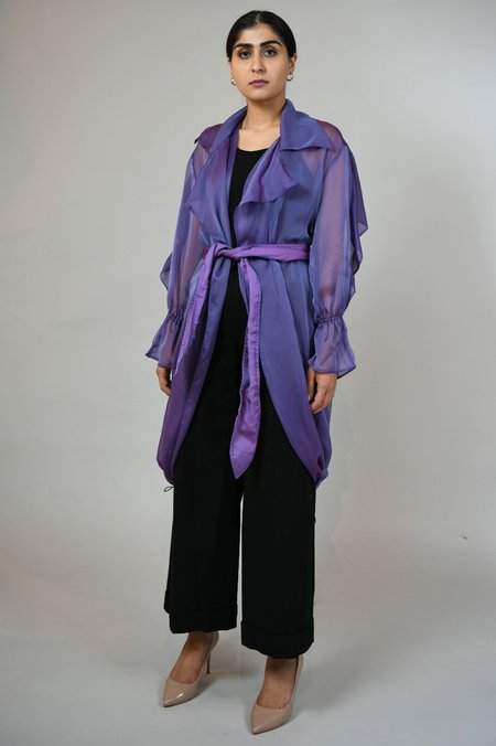 House of Sunny Sheer Trench - Lavender