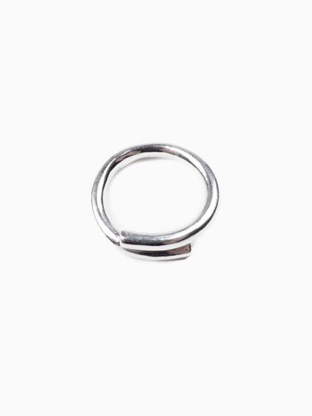 In Objects We Trust Small Cross Ring - Silver