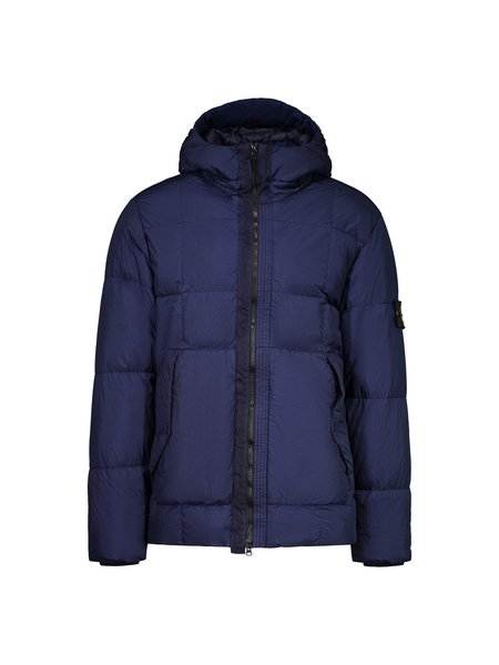 Stone Island Garment Dyed Crinkle Reps NY Real Down Jacket - Ink Blue