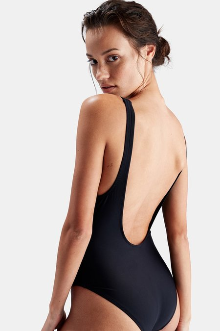 Solid and Striped Anne-Marie one piece - Black
