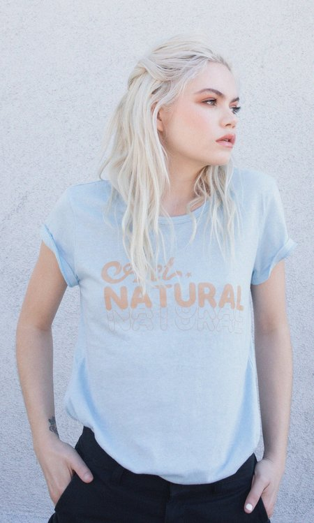 "Not Another Label ""Act Natural"" Graphic Tee - Blue Sky"