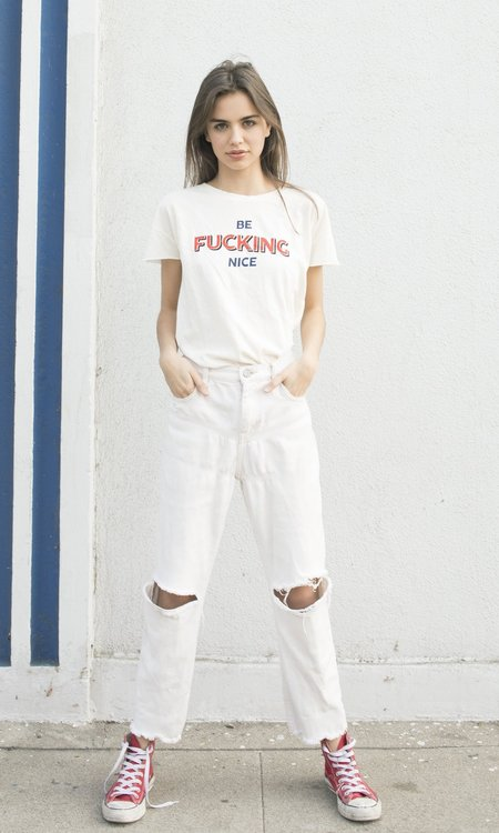 "Not Another Label ""Be F-ing Nice"" Graphic Tee - Off-White"