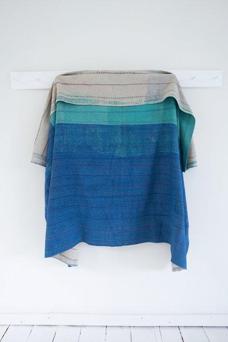 Karu Kantha Quilt - Blue/Green