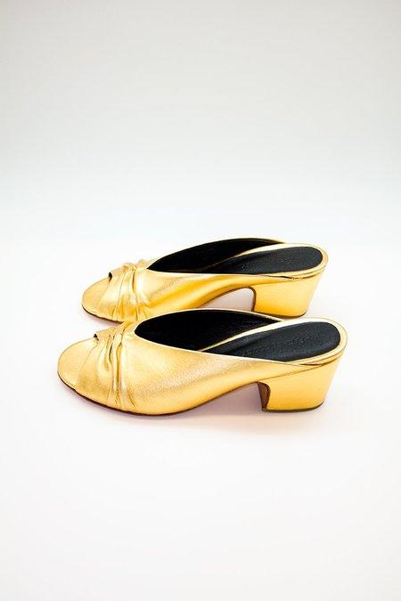 Rachel Comey Slither Metallic Mules - gold