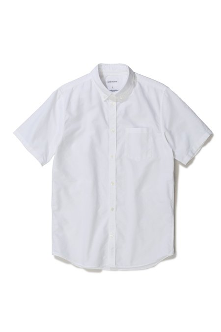 NORSE PROJECTS THEO OXFORD SS SHIRT - WHITE