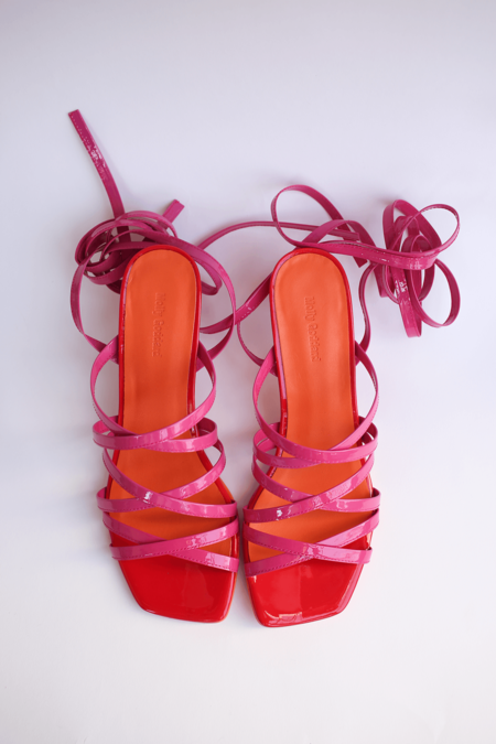 Molly Goddard Patent Leather Strappy Sandal - Pink