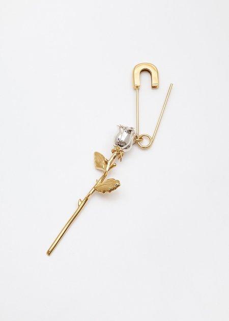 Ambush Rose Charm Earring - Gold