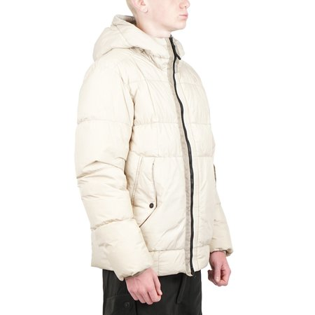 Stone Island GARMENT DYED CRINKLE REPS NY DOWN jacket - BEIGE