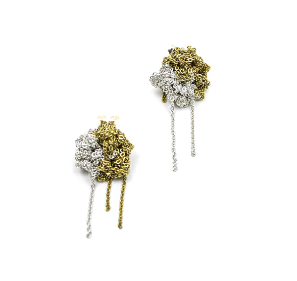 Arielle de Pinto Two Tone Bead Earrings