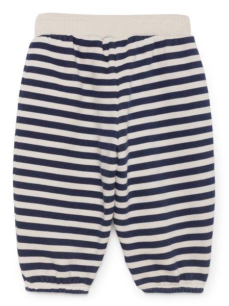 Kids Bobo Choses Horizontal Stripes Baby Track Pant - Navy/White Stripe