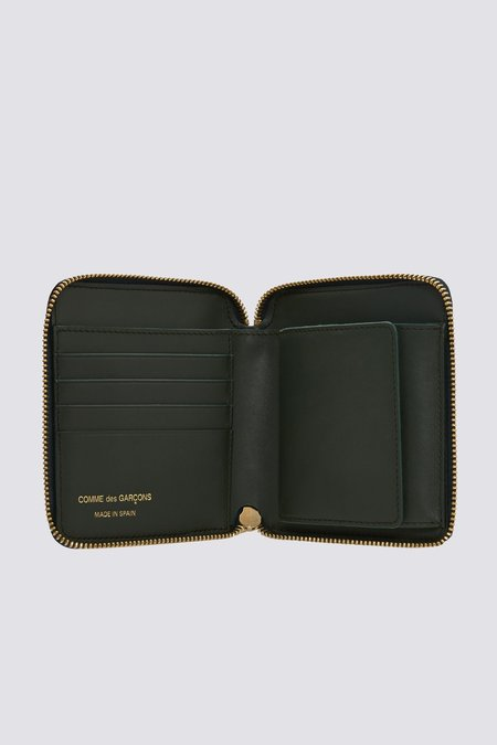 Comme des Garçons SA2100 Leather Wallet - Bottle Green