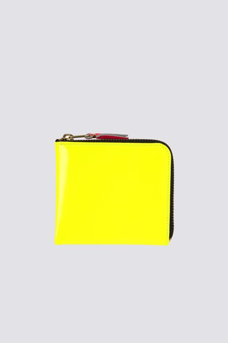 Comme des Garçons Super Fluo Half Zip Wallet - Yellow/Orange