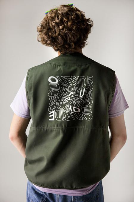Outside Military Vest - GREEN
