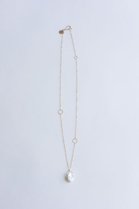 Melissa Joy Manning Keshi Pearl Adjustable Necklace - 14K Gold
