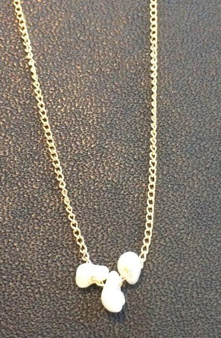 Melissa Joy Manning Natural Pearl Necklace - 14K Gold