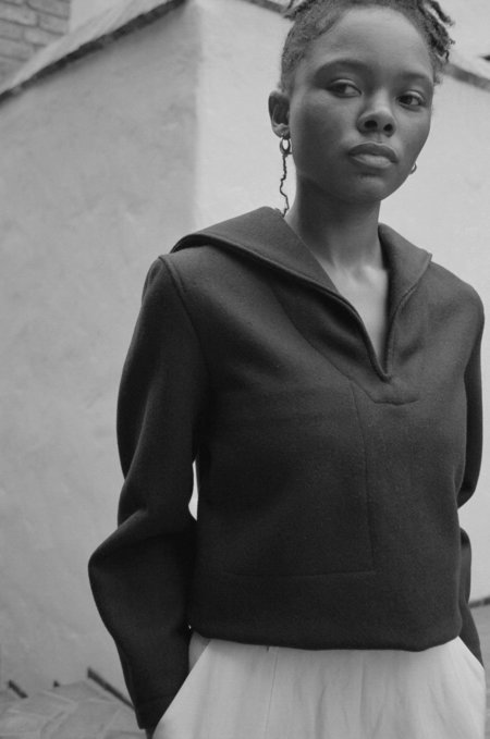 Vintage Casia Wool Pullover - Black