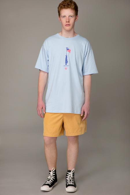 Obey Land T-Shirt - POWDER BLUE