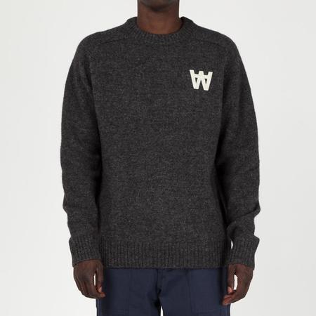 Wood Wood Kevin Sweater - Dark Grey Melange