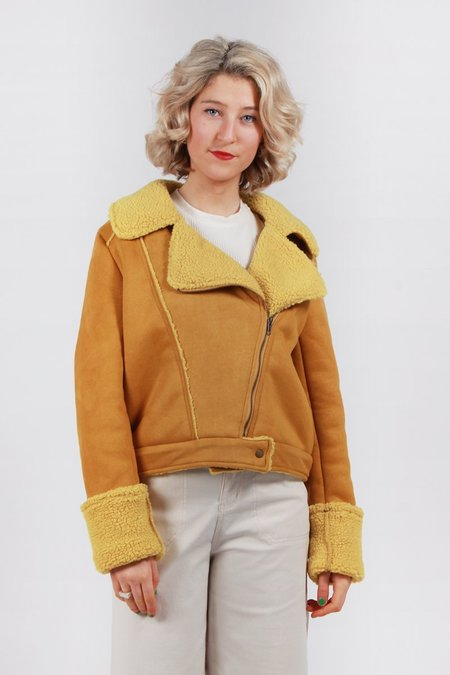 The Fifth Street Light Biker Jacket - mustard