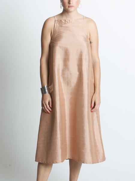 Beth Yard Dress - Terracotta Dupioni