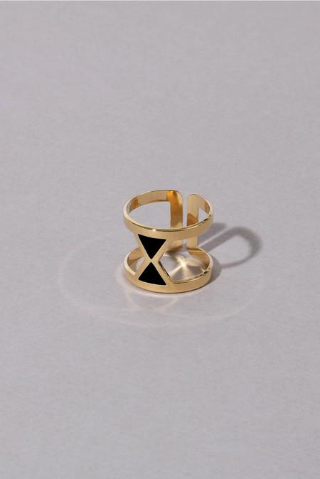 Anne Thomas Vega Adjustable Ring - Black