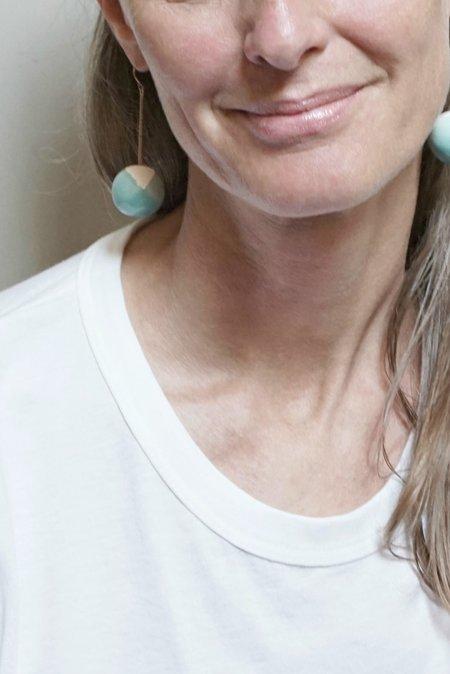 MARION VIDAL TAC TAC EARRINGS - TURQUOISE