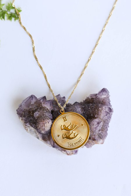 CAM Jewelry Planets and Predictions Zodiac Necklace - GOLD