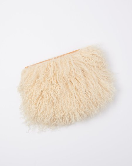 Brother Vellies Wallflower Pouch - Luna Mongolian Shearling
