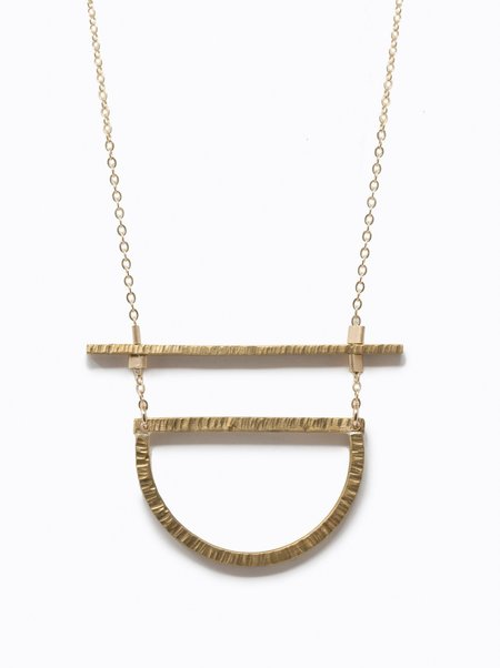 ABLE Manifesto Necklace - Gold/Brass